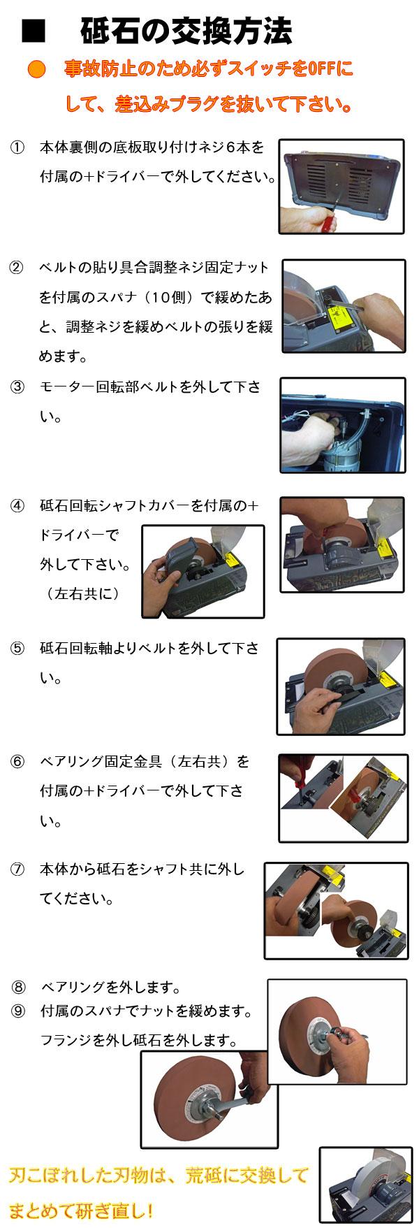 H&H縦型水研機の説明4